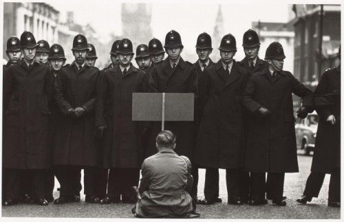 c86 via ASX:  Don McCullin - Protester, Cuban missile crisis, Whitehall, London 1962