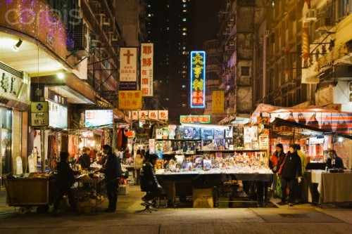 Kowloon, You Ma Tei, Temple Street Night Market, Hong Kong, China © Atlantide Phototravel/Corbis   (NT — One of my favorite cities and one of the most beautiful at night!)