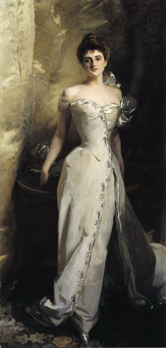 23silence:   John Singer Sargent (1856-1925) - Mrs. Ralph Curtis (Eliza De Wolfe Colt), 1898  A favorite of mine from Cleveland Museum of Art.