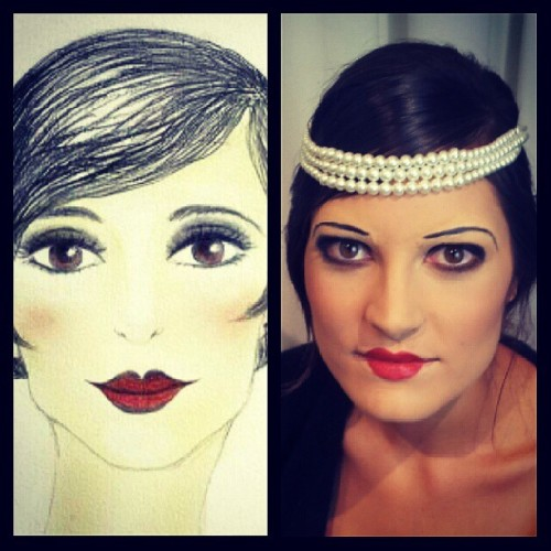 #makeup #1920s #20s #blockedoutbrows #fun #flapper #vintage #periodmakeup #makeupartist #makeupbyme #nicolemclarenmakeupartist #mua #melbourne #vicuni