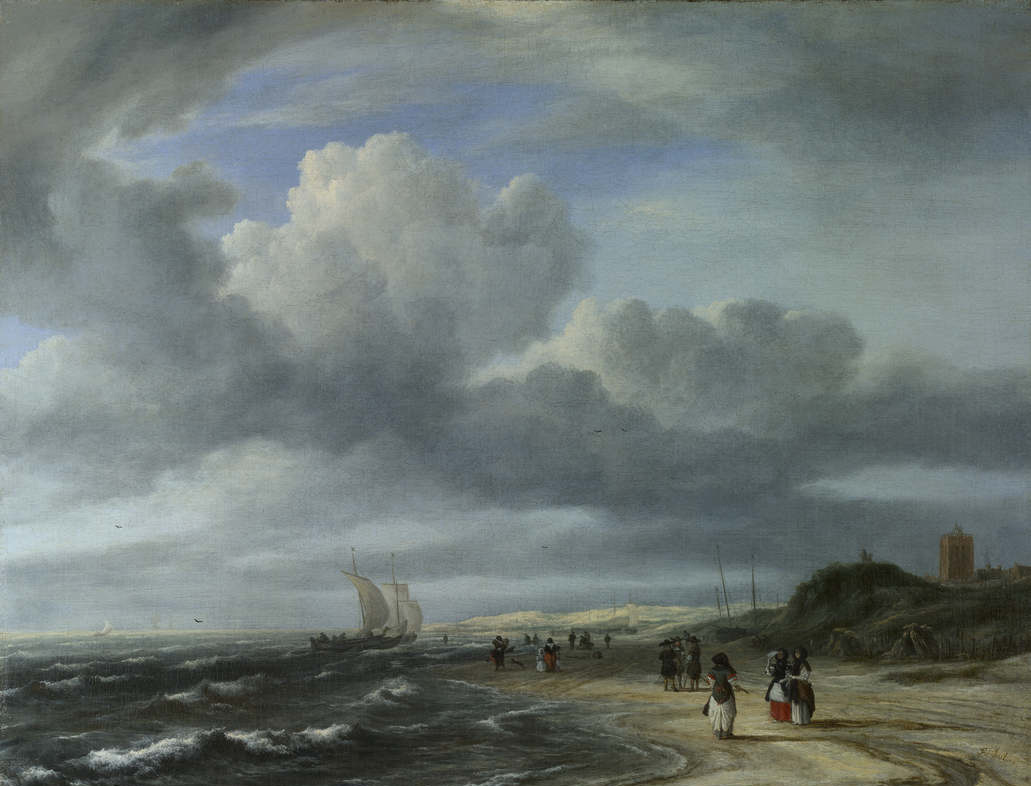 baroqueart:  The Shore at Egmond-aan-Zee by Jacob van Ruisdael Date: 1675