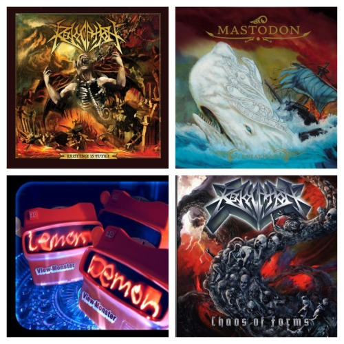 Today's listening squad. I know, 2 revocation albums. BUT THEY'RE SO DAMN GOOD.