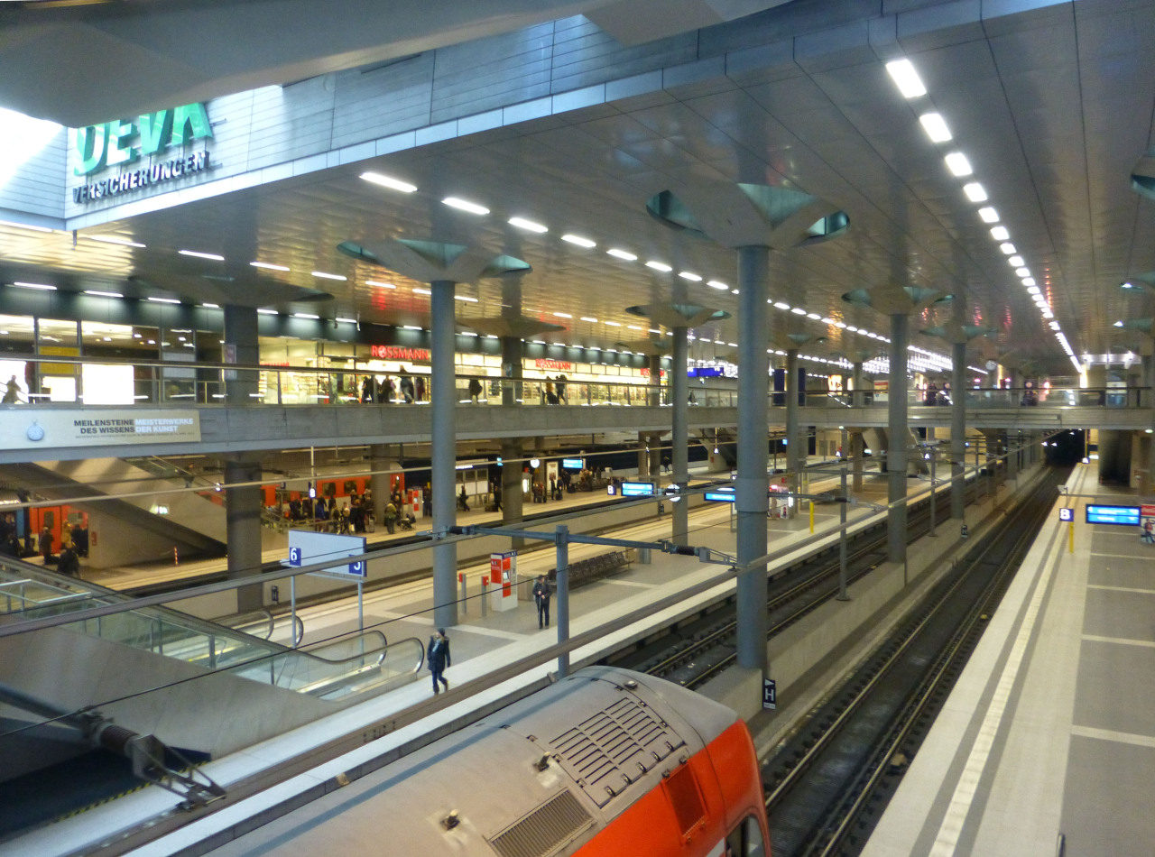 selysias-treasures:  mildly-lively:  The new Berlin Hauptbahnhof (main train station). For a long time Berlin didn't have a proper Hauptbahnhof because it was obviously destroyed during the war. But after a long time and millions of euros later, it is finally more or less complete and it looks pretty awesome. I mean, wow, its massive. Also my favorite part, it had an Easter display with some birches that actually had leaves!!! I mean they weren't very happy looking leaves (the insane cold had penetrated the Hauptbahnhof as well) but it was so nice seeing leaves..god I miss them..T-T  Well, what do you know. We have at least a little spring inside the Hauptbahnhof. Better than nothing I guess.  Berlin-Mitte