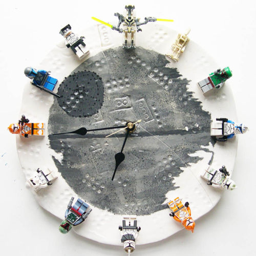Interchangable Star Wars Lego Clock a/k/a best craft ever