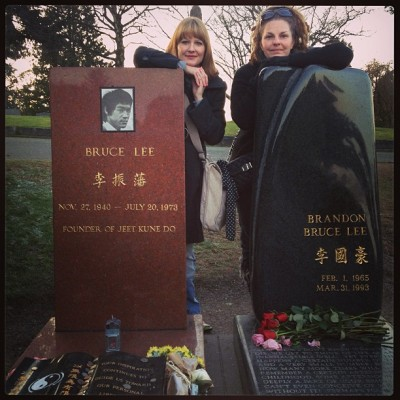 #brucelee #seattle #cemetery