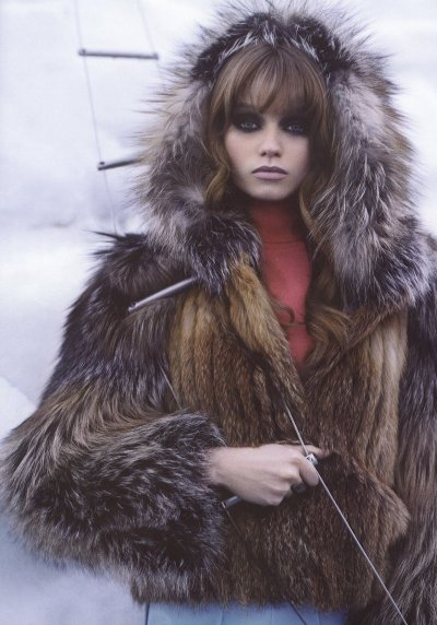 meisels:  Abbey Lee Kershaw in The Big Chill, Harper's Bazaar October 2009 ph Karl Lagerfeld