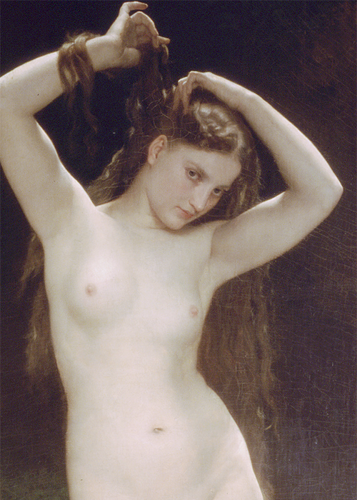 Bather (detail)by William Adolphe Bouguereau (1825-1905)