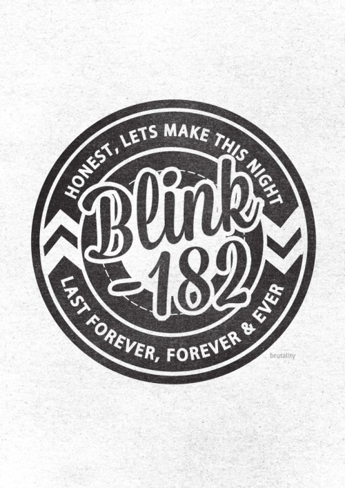 Type me crazy! Some pretty sweet custom type for the boys @ Blink 182!  Type love <3