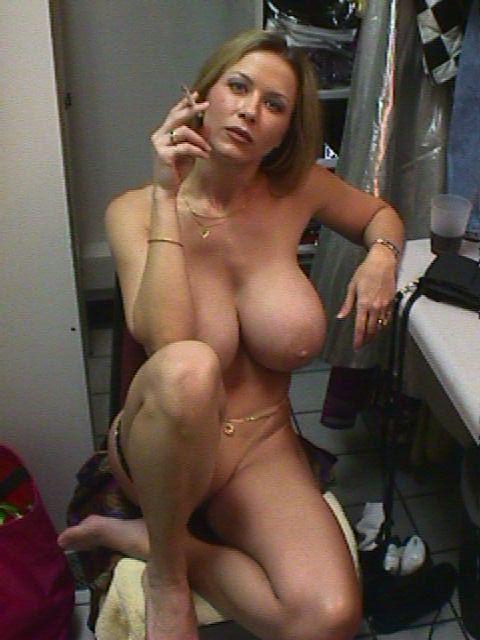 big tits cigarette