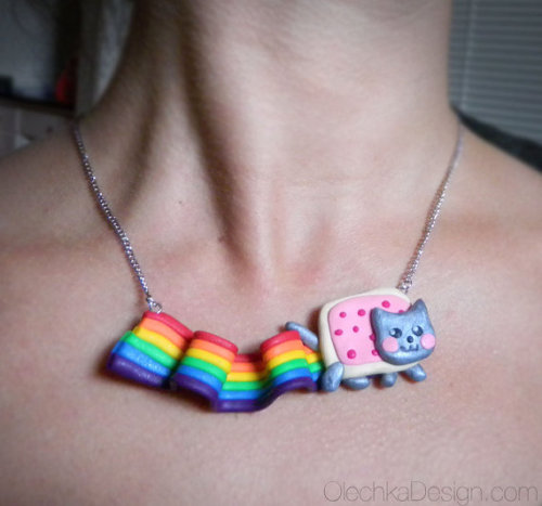 What: Nyan Cat necklace Where: Etsy.com/olechkadesign
