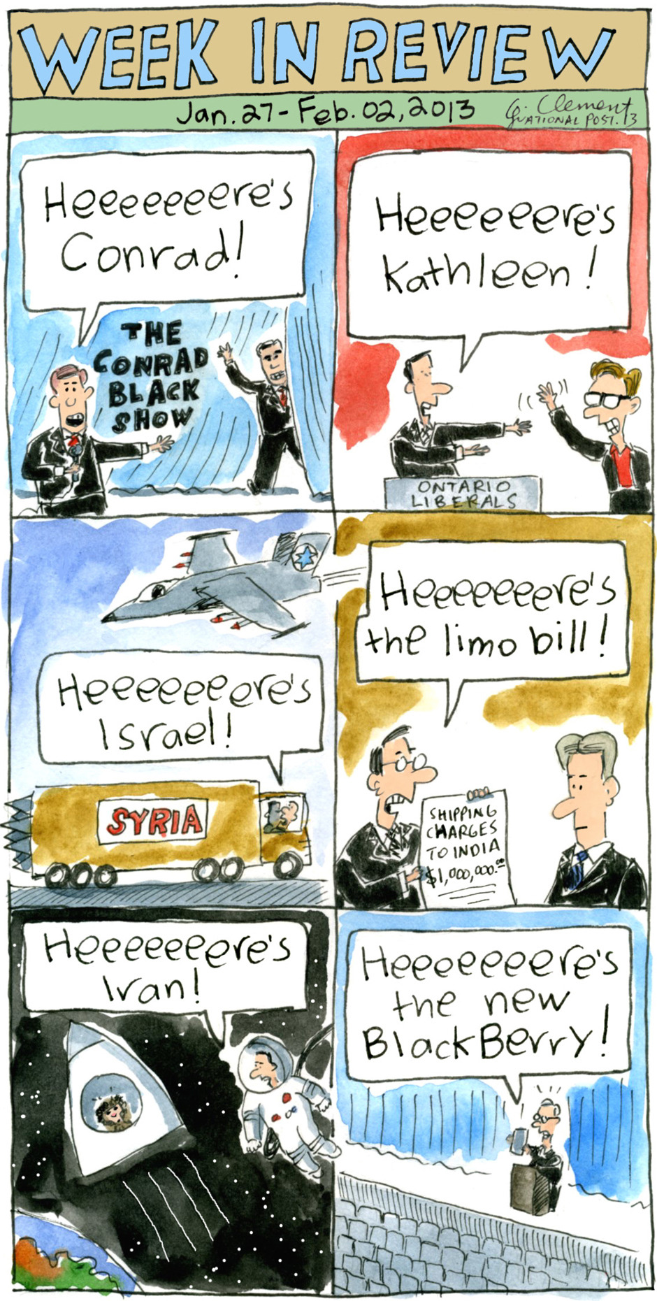 Political cartoonist Gary Clement's week in review