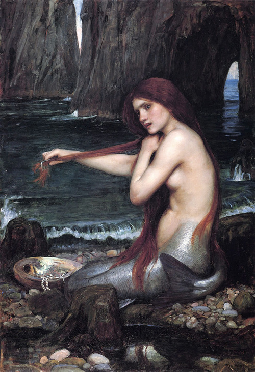 tenaciousdrey:  mermaid combing her hair