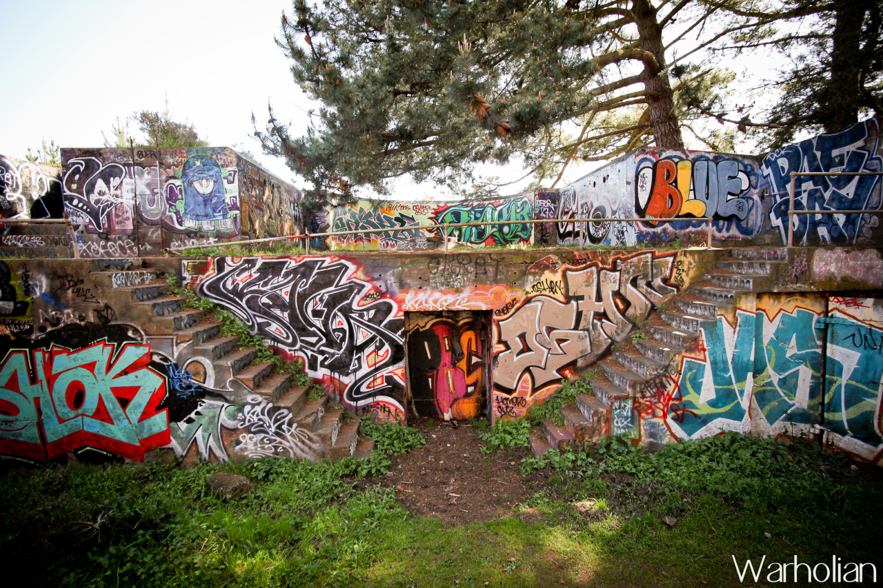 """Marin Headlands Graffiti"" by photodocumentarian Michael Cuffe for Warholian. (2013)"