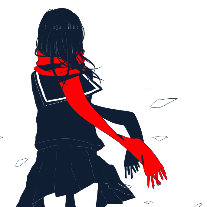 marshmallian:  Can't stop drawing Ayano for some reason. //goestoacornerandcryeyesout