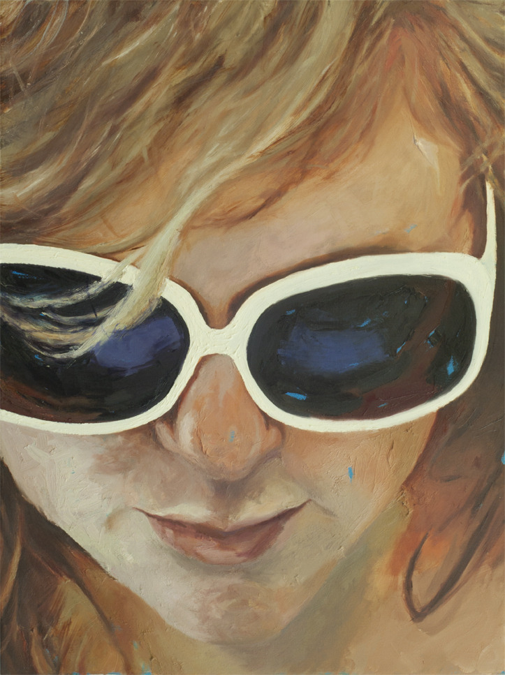Aly Sunglasses, oil on acrylic on canvas, 36 x 24 in, 2011-13.