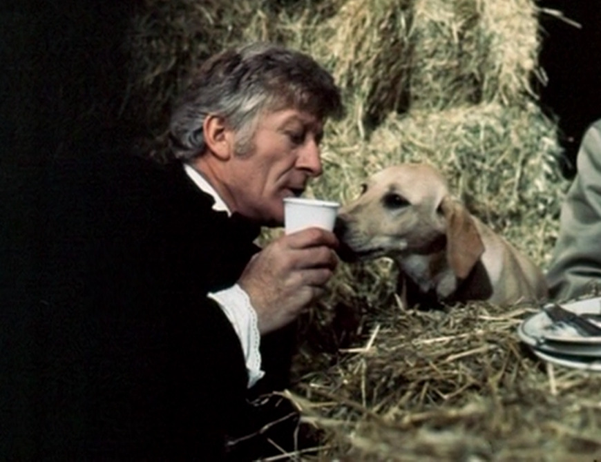 therarispy:  The Third Doctor bonding with a dog.
