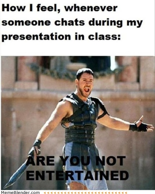 When you give a presentation in class some more funny memes