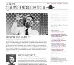 Web design and logotype for the Swedish Steve Martin appreciation society, SSMAS.