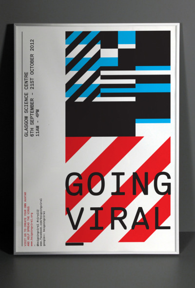Going Viral poster (via Going Viral | Serifs & Sans)