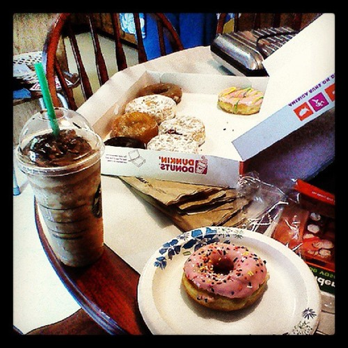 Omg yum! Thanks Mrs.C! #starbucks #dunkindonuts #yummy