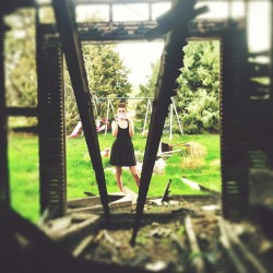 Shoot location no. 2: Abandoned Burned Out House (shot taken standing in the living room.)