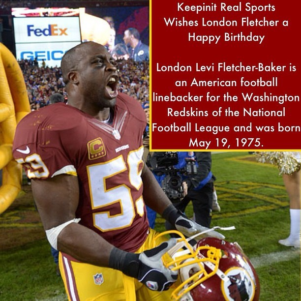 #HappyBirthday #LondonFletcher #American #linebacker #StLouis #Rams #Buffalo #Bills #Washington #Redskins #JohnCarrollUniversity #NFL #Football #Instasports #Followback #Sports #keepinitrealsports #MysterKeepinit