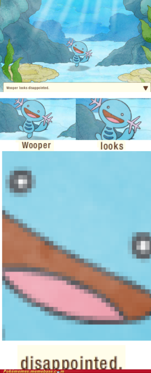 ichooseyouinsertnamehere:  Smile through the pain wooper Smile through it