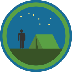 "lifescouts:  Lifescouts: Camping Badge If you have this badge, reblog it and share your story! Look through the notes to read other people's stories. Click here to buy this badge physically (ships worldwide). Lifescouts is a badge-collecting community of people who share their real-world experiences.  I haven't done a lot of ""real"" camping, but my family used to stay at campgrounds during many of our summer vacations, especially the annual trip to visit my grandfather's family in Maine. At first, all four of us were crammed into one big tent. Over the years, as my brother hit his growth spurt and I lost the ability to sleep through my father's chainsaw-level snoring, we kids migrated to our own smaller tents where we could have some private space and stay up reading as late as our flashlights allowed. Despite the occasional leaky air mattress or swarm of mosquitoes or sudden rainstorm, we generally had a good time."