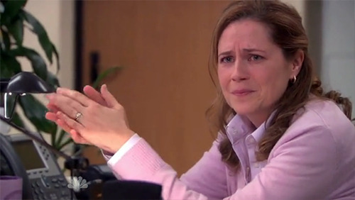 """Those tears are real, I didn't like Jim being mad at Pam any more than the audience did."""