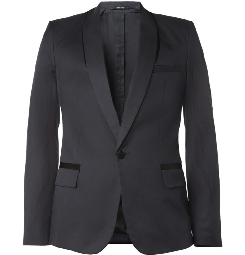 Maison Martin Margiela - Navy Shadow-Effect Tuxedo Blazer