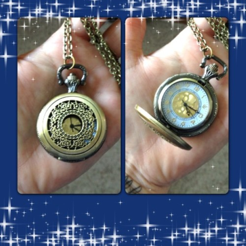 Loving my new pocket watch necklace that I got recently. Thought it might come in handy since I never wear a watch.