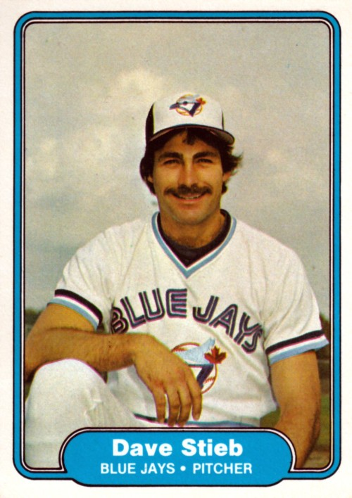 Random Baseball Card #2381: Dave Stieb, pitcher, Toronto Blue Jays, 1982, Fleer.