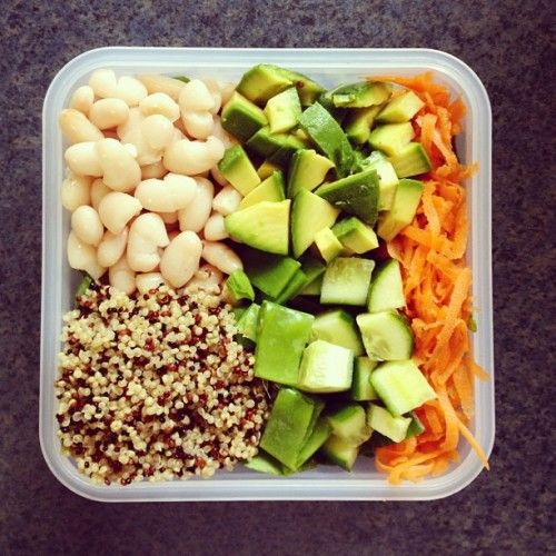 cleanbodyfreshstart:  Salad box for lunch ☺