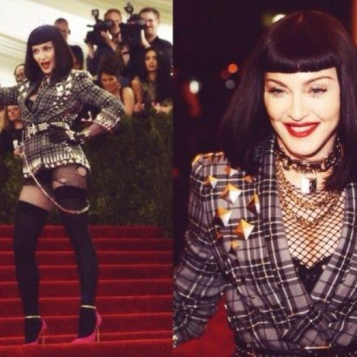 Madge rocked the met gala last night.. #obsessed @madonnaofficial #madonna #punk #metgala