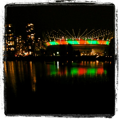 Seen around town: BC Place stadium all lit up for the season A merry Ho Ho Ho to you and yours!