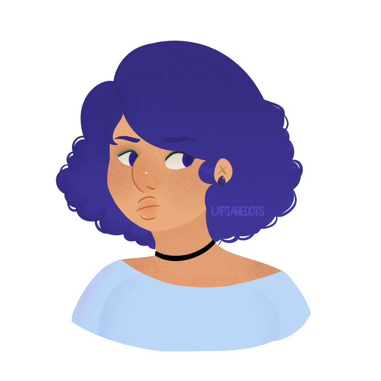 Human au lapis! I headcannon her as mixed filipino/african american