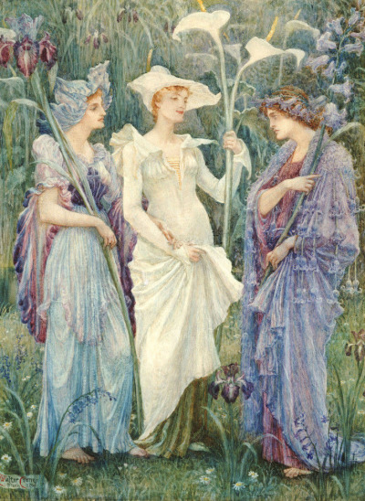 colourthysoul:  Walter Crane - Ensigns Of Spring (1894)