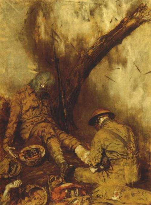 """Dressing the Wounded during a Gas Attack"" by Austin O. Spare."