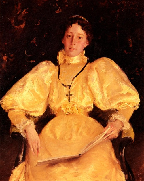 The golden lady 1896, by William Merritt Chase