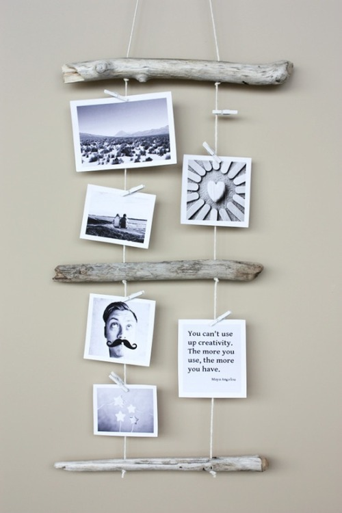 DIY - Driftwood Picture Display