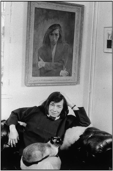 infina:  Patricia Highsmith © Martine Franck-Magnum Photos.  The portrait of Patricia in the back was painted by Allela Cornell, who PH had an affair with in the early 40s.