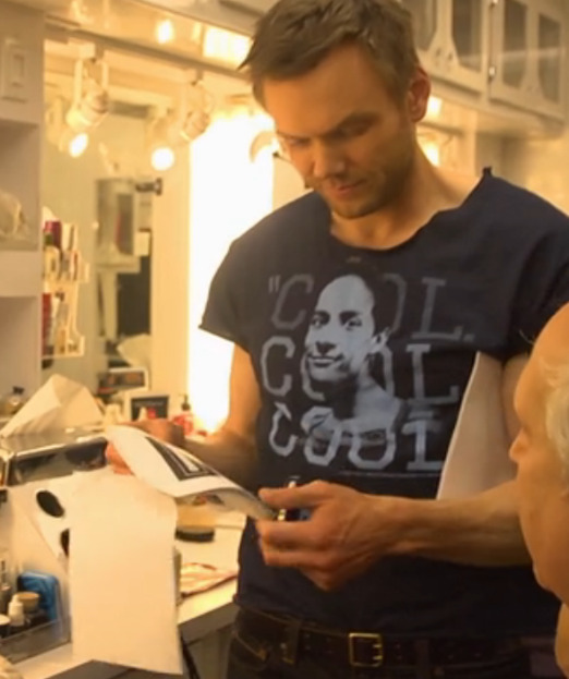 shessouncool:  I love that Joel McHale is wearing this shirt on the Community set.