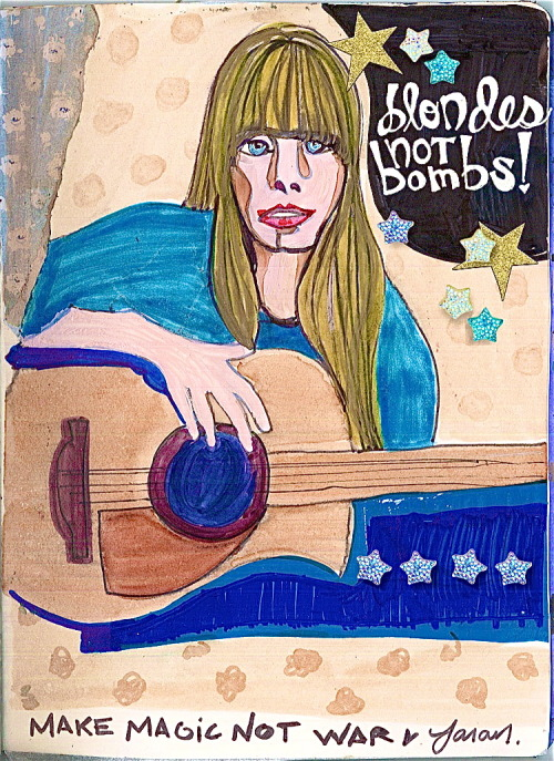 Blondes Not Bombs!Make magic, not war.