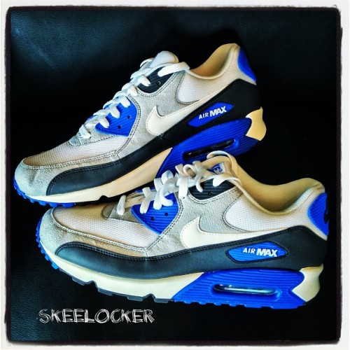 #SkeeLocker 141/365: Air Max 90 Anthracite/White-Obsidian-Soar. Classic colors & materials for arguably my fav Air Max ever