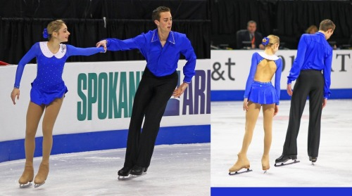 Kylie Duarte and Colin Grafton's short program costumes at the 2010 Novice US Nationals.