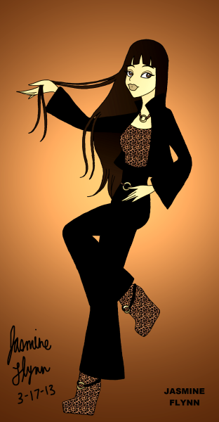 Black and Leopard Print Outfit. a digital drawing by me, Jasmine Flynn :)