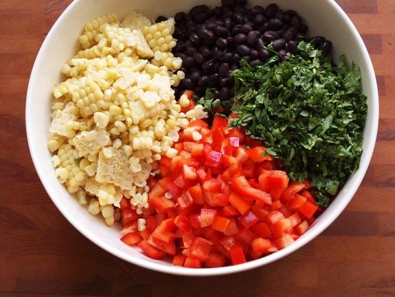 Салат из красной фасоли простые