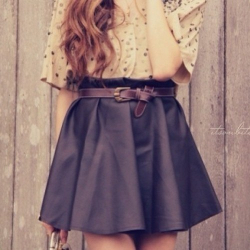 #fashion #skater #skirt #black #pleated #style #dress #chic
