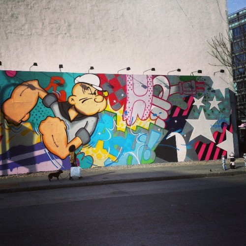 Crash #popeye #bowerymural #bowery #houstonst #soho #noho downtown #manhattan aka #mathhattan