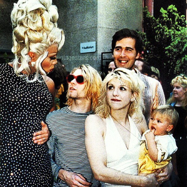 the90sfeed:  #kurtcobain #courtneylove #kristnovoselic #nirvana #hole #grunge #punk #rock #90s #rupaul #francescobain by kurtyourself http://instagr.am/p/WbRP_2lf-1/